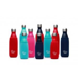 Botella termo reutilizable Bbo Irisana. Acero inoxidable con funda de neopreno de regalo